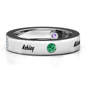 Personalised Circular Band 25 Stones Ring - Custom Made By Yaffie™