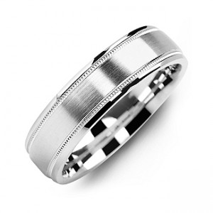 Personalised Classic Brush Milgrain Men's Ring - Custom Made By Yaffie™
