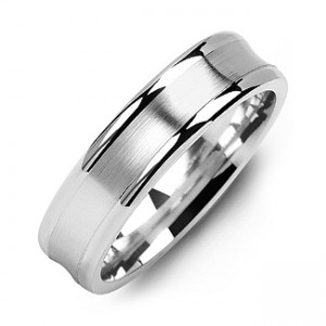Personalised Classic Contoured Men's Ring with Brushed Centre - Custom Made By Yaffie™