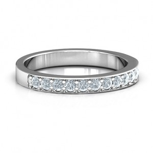 Personalised Classic Half Eternity Ring - Custom Made By Yaffie™