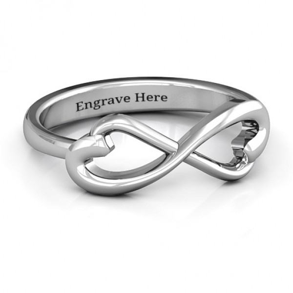Personalised Classic Hearts Infinity Ring - Custom Made By Yaffie™