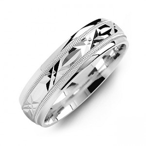 Personalised Classic Men's Ring with Diamond Cut Pattern - Custom Made By Yaffie™