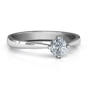 Personalised Classic Round Solitaire Ring - Custom Made By Yaffie™