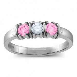 Personalised Classic Separated 25 Stones Ring - Custom Made By Yaffie™