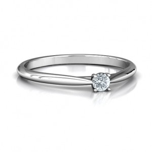 Personalised Classic Solitare Sparkle Ring - Custom Made By Yaffie™
