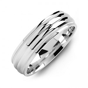 Personalised Classic Two Line Milgrain Men's Ring - Custom Made By Yaffie™