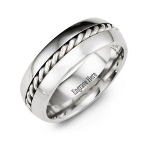Personalised Cobalt Rope Ring - Custom Made By Yaffie™