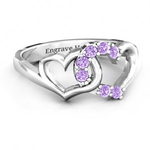 Personalised Connecting Hearts Ring - Custom Made By Yaffie™