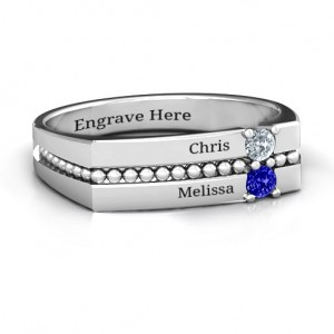 Personalised Crevice Beaded Women's Ring - Custom Made By Yaffie™