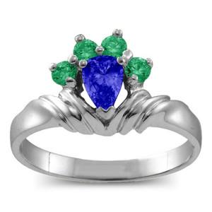 Personalised Crown Pear 28 Stones Ring - Custom Made By Yaffie™