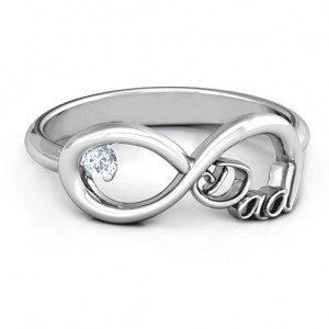 Personalised Dad Infinity Ring - Custom Made By Yaffie™