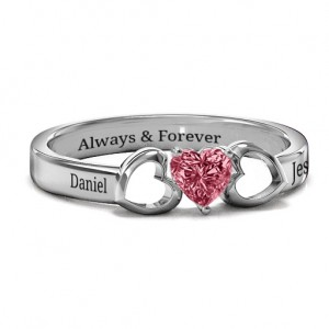 Personalised Darling Heart Wraparound Ring - Custom Made By Yaffie™