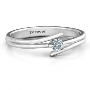 Personalised Double Line Bypass Ring - Custom Made By Yaffie™