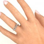 Personalised Double Stone Infinity Accent Ring - Custom Made By Yaffie™