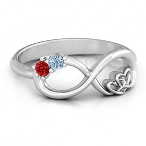 Personalised Double the Love Infinity Ring - Custom Made By Yaffie™