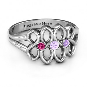 Personalised Echo of Love Infinity Ring - Custom Made By Yaffie™