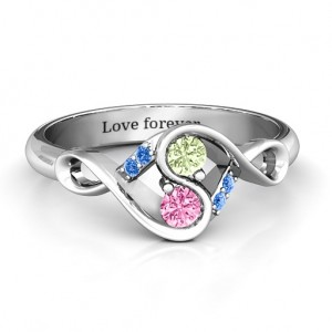 Personalised Element of Infinity Two Stone Ring - Custom Made By Yaffie™