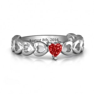 Personalised Enchanting Love Promise Ring - Custom Made By Yaffie™