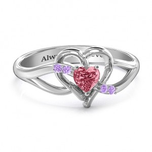 Personalised Endless Romance Engravable Heart Ring - Custom Made By Yaffie™