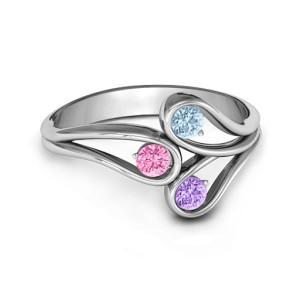 Personalised Eternal Elegance ThreeStone Ring - Custom Made By Yaffie™