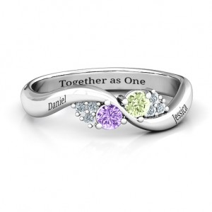 Personalised Everyday Dream Ring With Shoulder Accents - Custom Made By Yaffie™