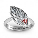 Personalised Exquisite Elm Cage Leaf Ring - Custom Made By Yaffie™