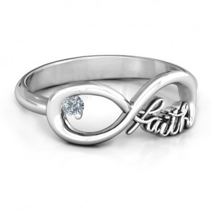 Personalised Faith Infinity Ring - Custom Made By Yaffie™