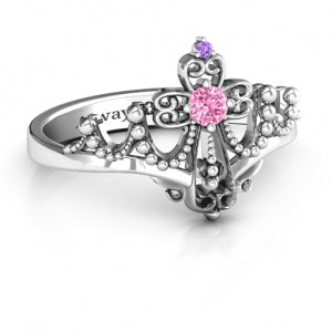 Personalised Forever And Always Tiara Ring - Custom Made By Yaffie™
