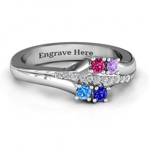 Personalised Four Stone Ring with Accents - Custom Made By Yaffie™