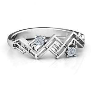Personalised Geometric Glamor Ring - Custom Made By Yaffie™