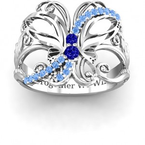 Personalised Glimmering Butterfly Ring - Custom Made By Yaffie™