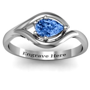 Personalised en Eye Pear Ring - Custom Made By Yaffie™
