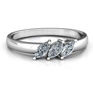 Personalised Grand Marquise Trio Ring - Custom Made By Yaffie™