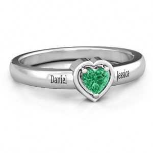 Personalised Heart in a Heart Ring - Custom Made By Yaffie™
