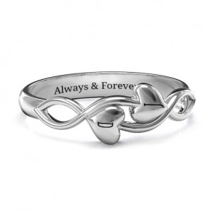 Personalised Heavenly Hearts Ring - Custom Made By Yaffie™