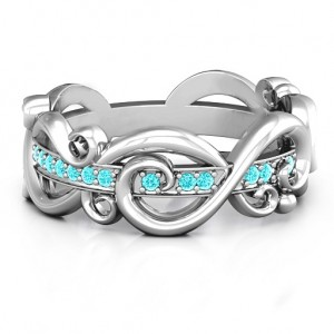 Personalised Imperative Love Infinity Ring - Custom Made By Yaffie™