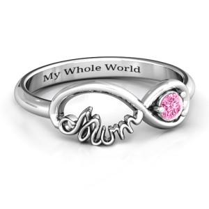 Personalised Infinite Bond Mum Ring - Custom Made By Yaffie™