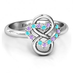 Personalised Infinite Love with Stones Rings - Custom Made By Yaffie™