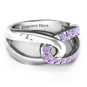Personalised Infinity Embrace Ring - Custom Made By Yaffie™