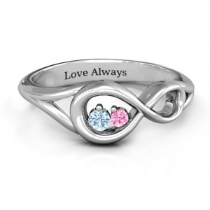 Personalised Infinity Love Nest Ring - Custom Made By Yaffie™