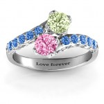 Personalised Intricate Infinity Two Stone Ring - Custom Made By Yaffie™