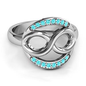 Personalised Karma of Love Infinity Ring - Custom Made By Yaffie™