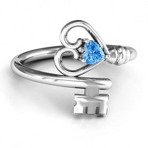 Personalised Key to Her Heart Ring - Custom Made By Yaffie™