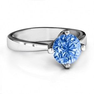 Personalised Large Stone Solitaire Ring - Custom Made By Yaffie™