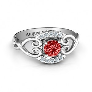 Personalised Lasting Love Promise Ring with Accents - Custom Made By Yaffie™
