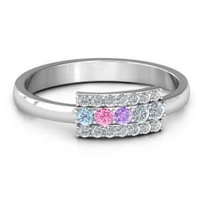 Personalised Layers Of Light Ring - Custom Made By Yaffie™