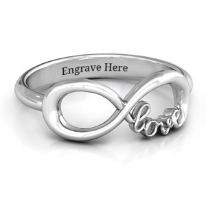 Personalised Love Infinity Ring - Custom Made By Yaffie™