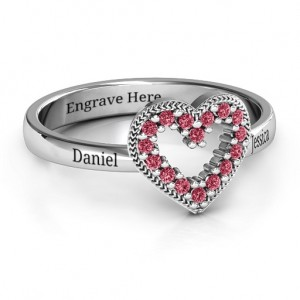 Personalised Love Story Heart Accent Ring - Custom Made By Yaffie™