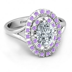 Personalised Margaret Double Halo Ring - Custom Made By Yaffie™