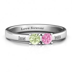 Personalised Meet In The Middle Two Stone Ring - Custom Made By Yaffie™